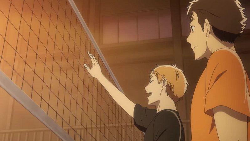 """Кадр из аниме """"Волейбольный клуб старшей школы Сэйин"""""""